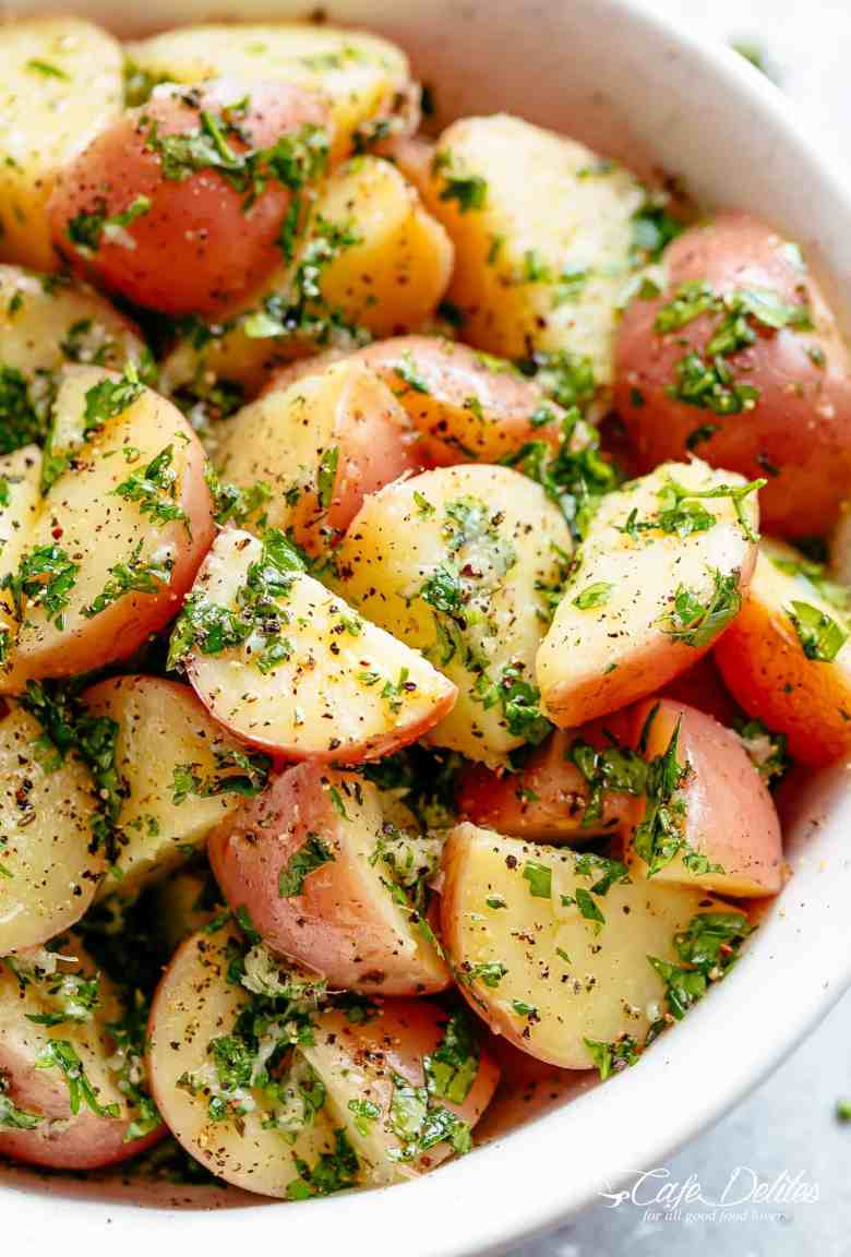 Garlicky Herb Red Potato Salad