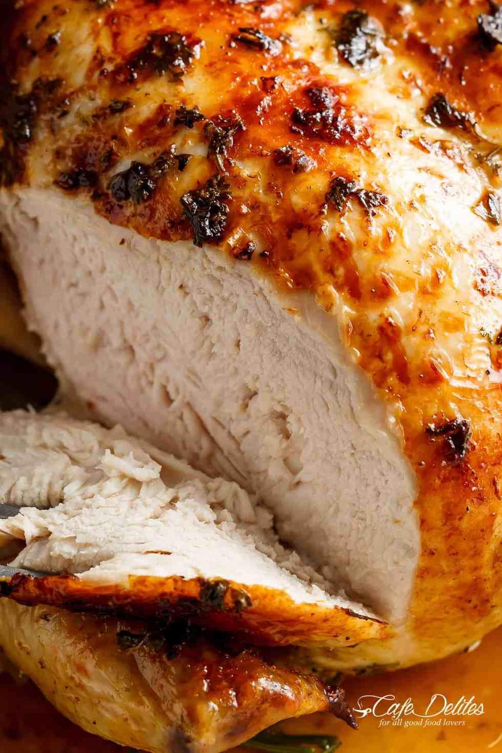Juicy Roast Chicken Breast | cafedelites.com