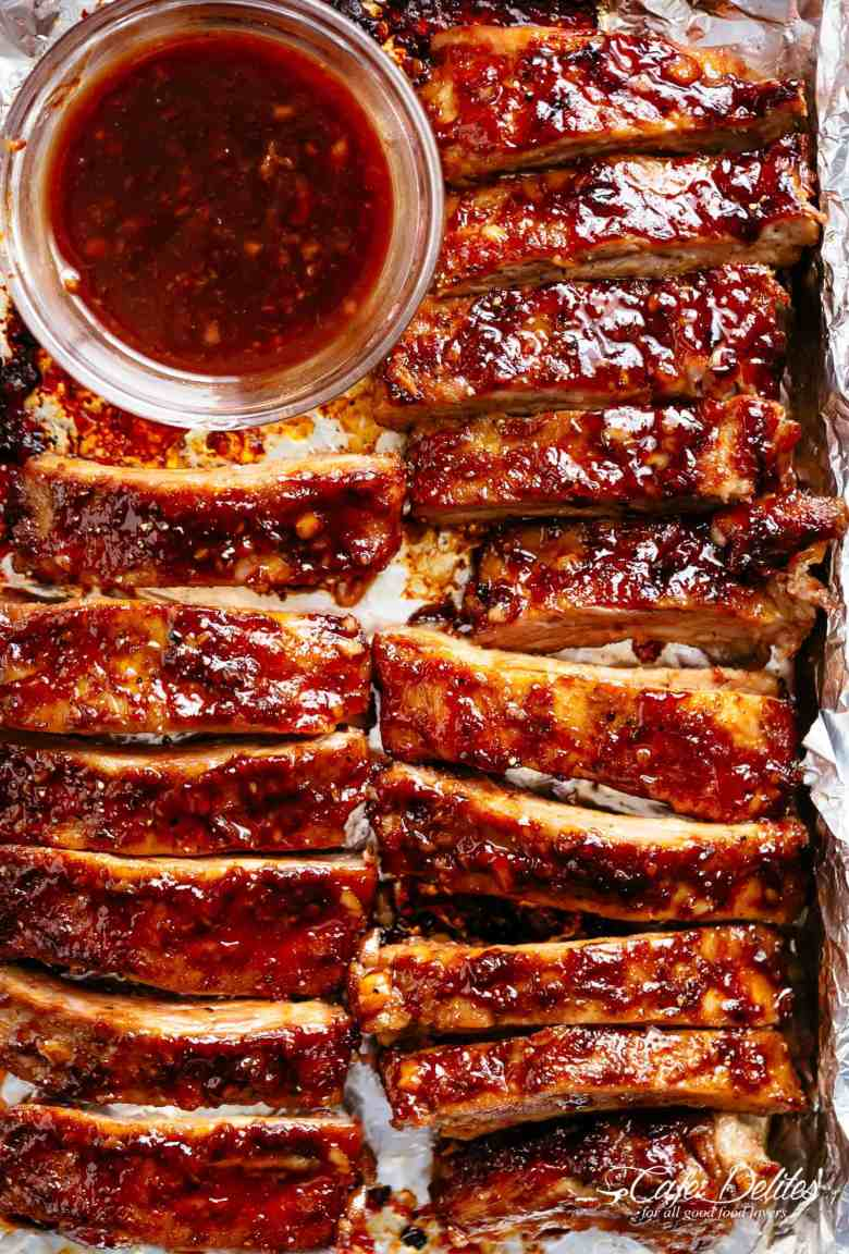 Sticky Oven Barbecue Ribs