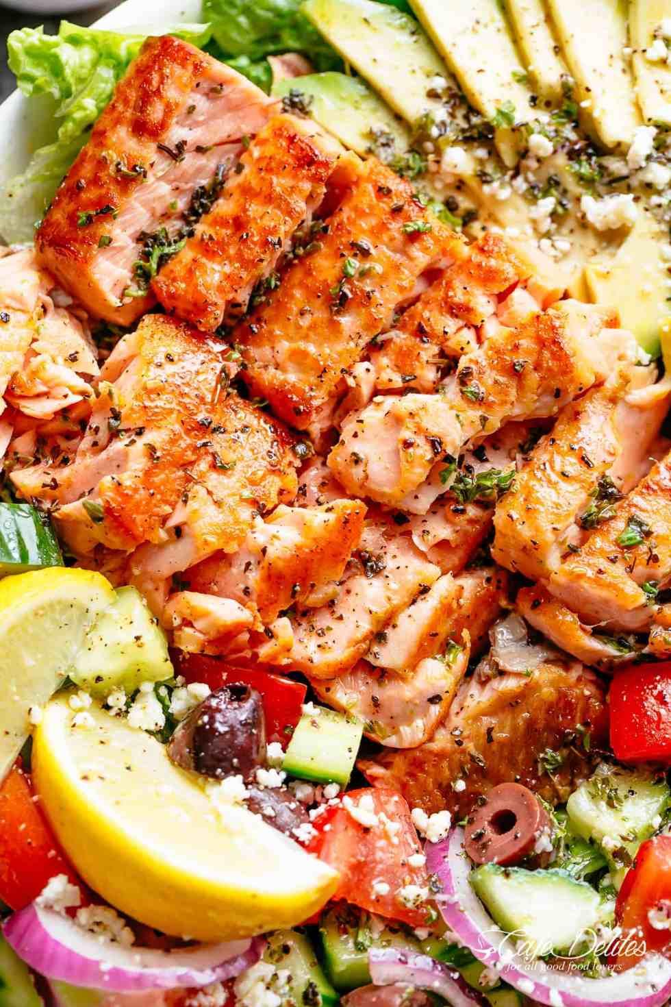 Salmon Salad | cafedelites.com