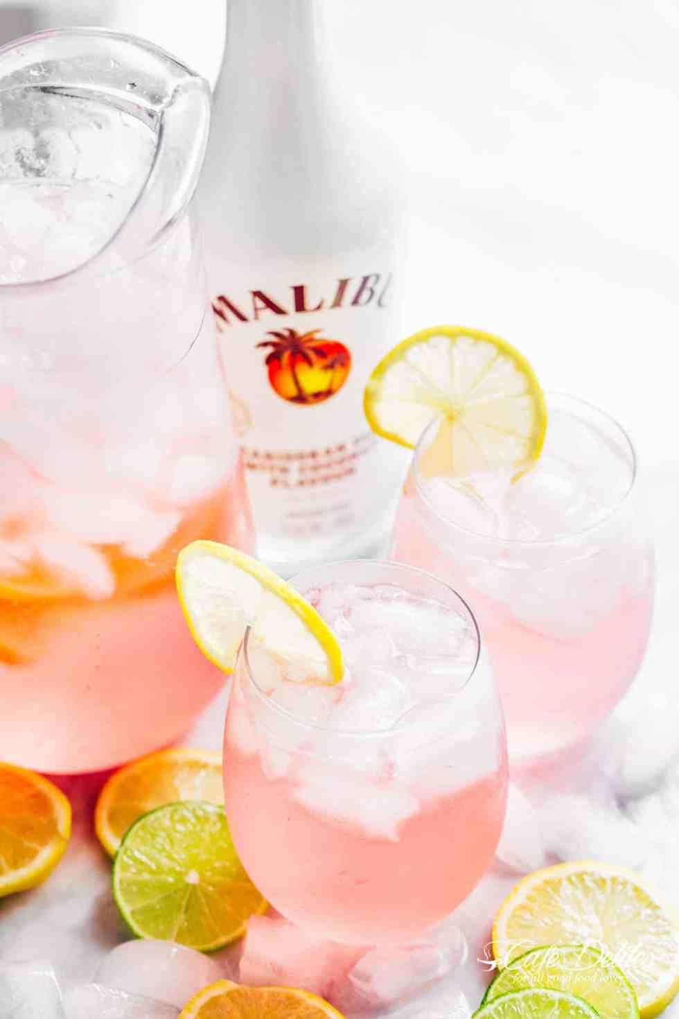 Pink Vodka Lemonade | cafedelites.com