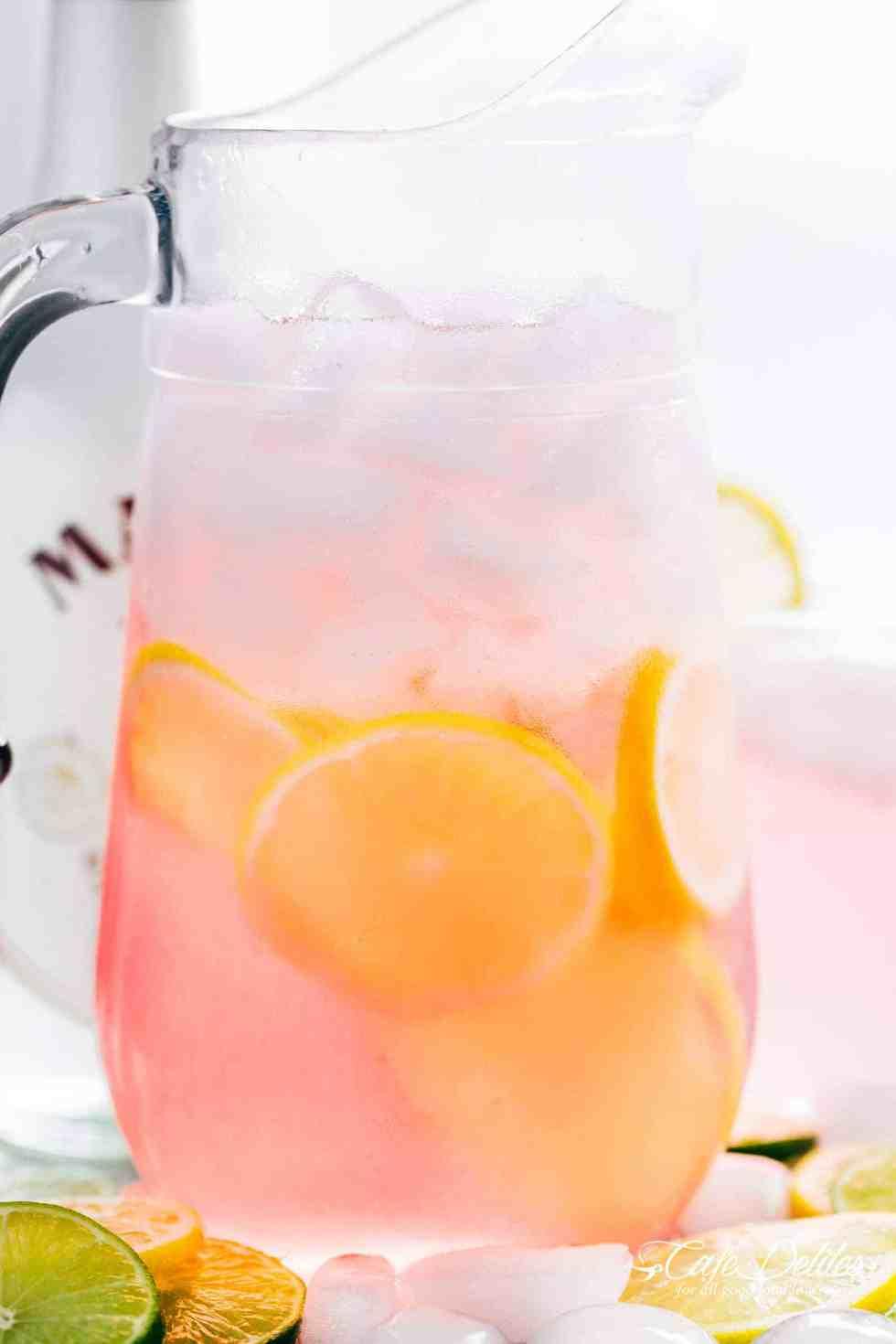 Pitcher Pink Vodka Lemonade | cafedelites.com