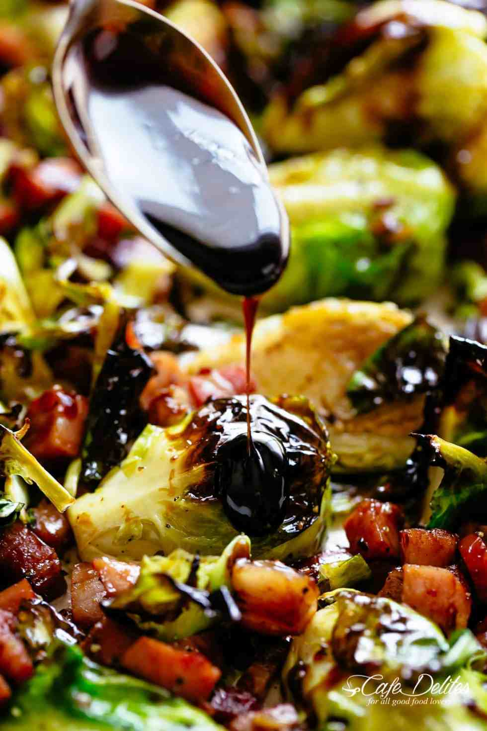 Balsamic Roasted Brussels Sprouts | cafedelites.com