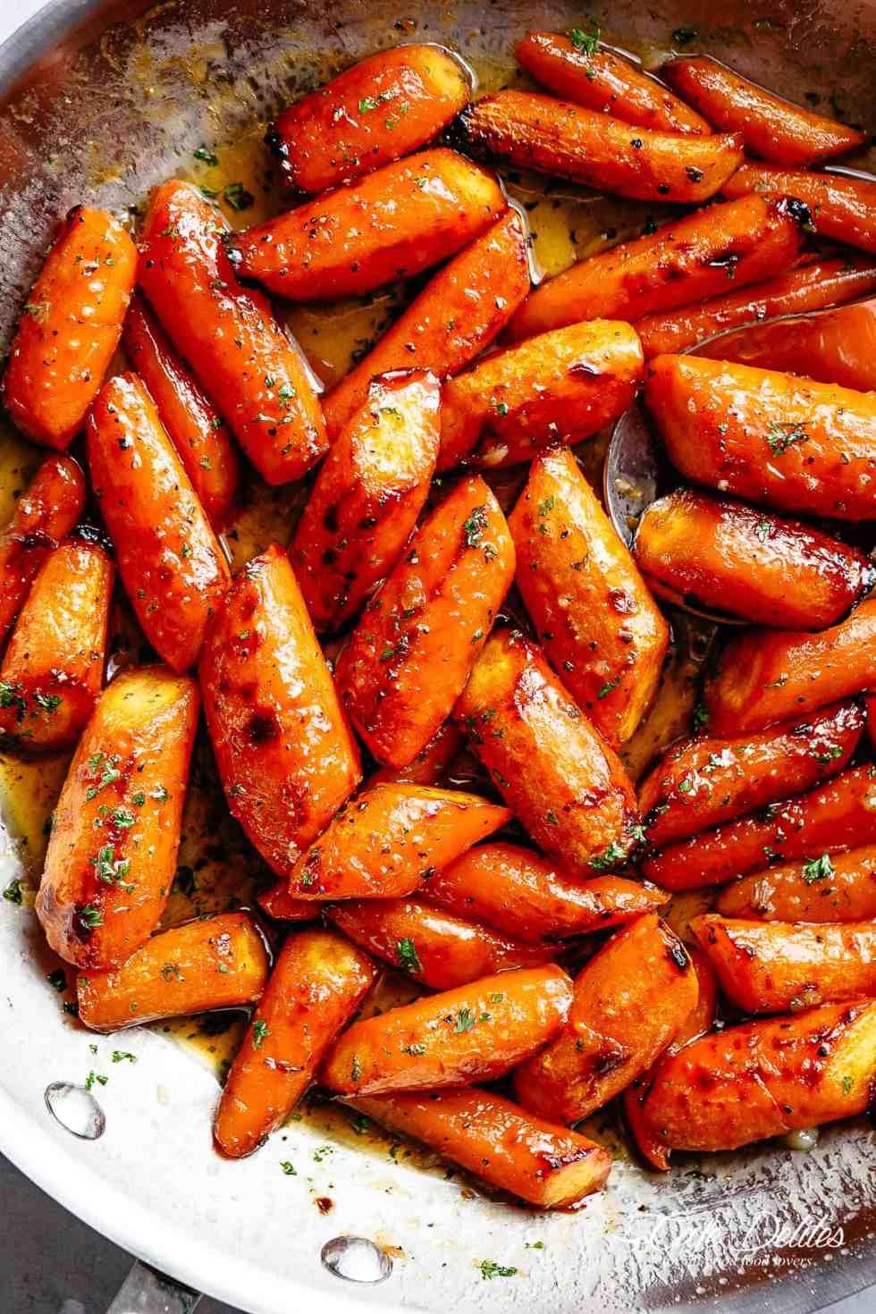 Roasted Carrots with honey glaze