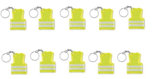 Gilet jaune porte clef