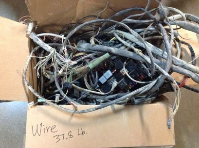 37.8 lbs of wire harness