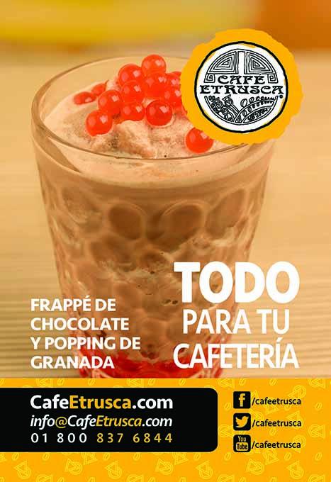 Frappé de Chocolate y Popping de Granada