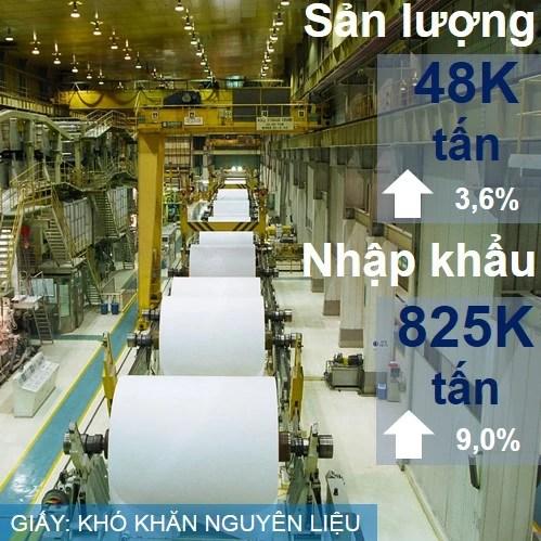 Ngành giấy gặp nhiều khó khăn trong việc nhập khẩu giấy thu hồi làm nguyên liệu sản xuất, cạnh tranh trên thị trường nội địa. Song ngành vẫn phát triển, đẩy nhanh các dự án đầu tư và mở rộng thêm dự án mới.