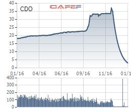 Cổ phiếu CDO giảm sàn 34 phiên liên tiếp