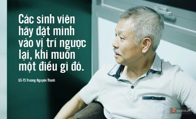 Lời nhắn nhủ của GS-TS Trương Nguyện Thành dành cho bạn trẻ.