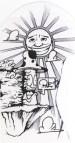 champignon soleil sante bande dessinee graffiti