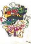 voiture graffiti bande dessinee peur hip hop