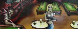 murale graffiti artiste hiphop fluke contrat billard