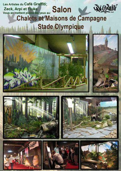 Affiche Art mural Salon chalets et maisons de campagne