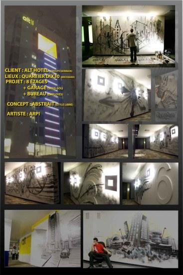 Affiche graffiti Hôtel Alt, quartier Dix30