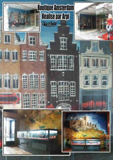 Affiche graffitis Boutique Amsterdam Coffee Shop