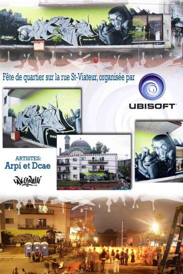 Affiche Murale, fête de quartier Ubisoft