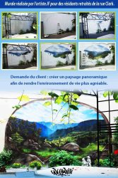 Affiche paysage panoramique mural rue Clark