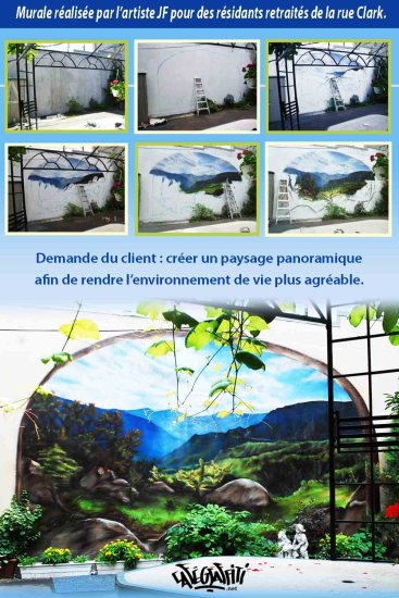 Affiche Paysage panoramique mural, rue Clark