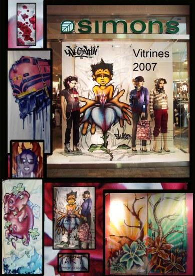 Affiche graffitis Maison Simons