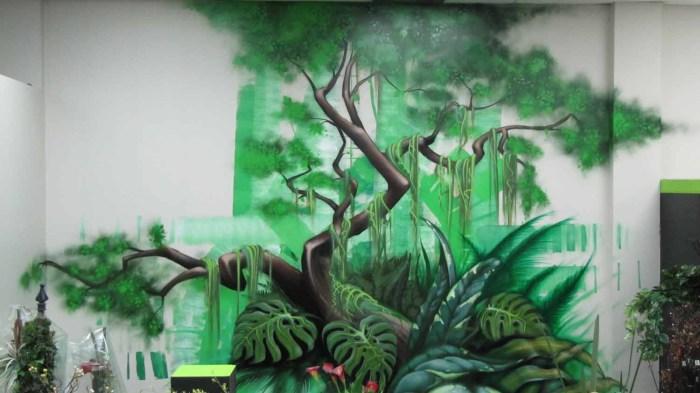 Graffiti fleuriste la Muse