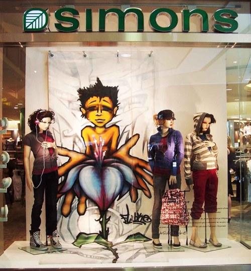 Graffitis Maison Simons