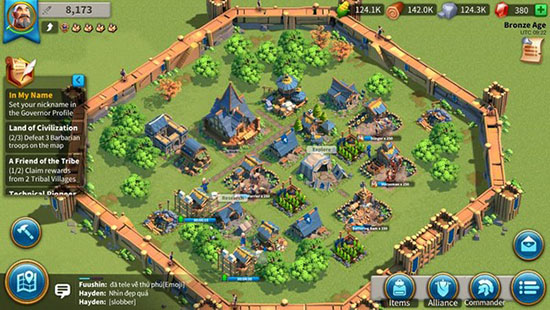 Giao diện game Rise Of Civilizations