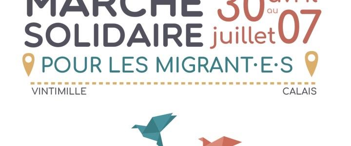 La marche solidaire des migrants fait escale à Orange / samedi 19 mai