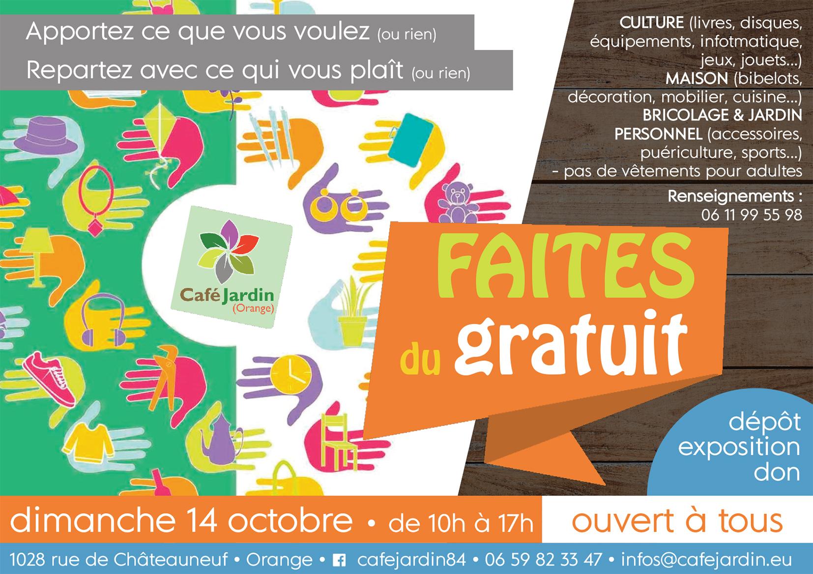 FAITES DU GRATUIT - dimanche 14 octobre -