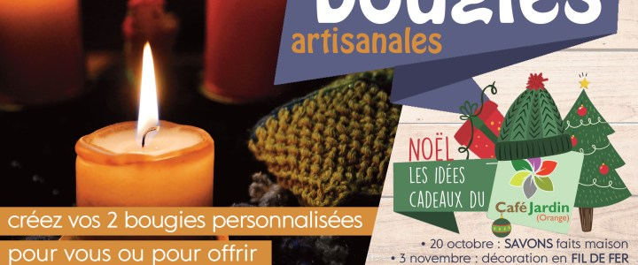 atelier BOUGIES artisanales – samedi 10 novembre