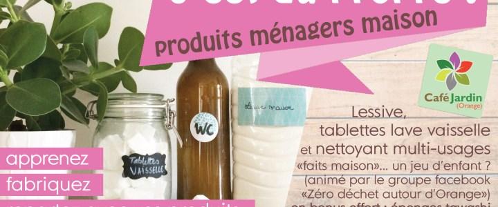C'EST DU PROPRE – atelier produits ménagers – samedi 19 octobre