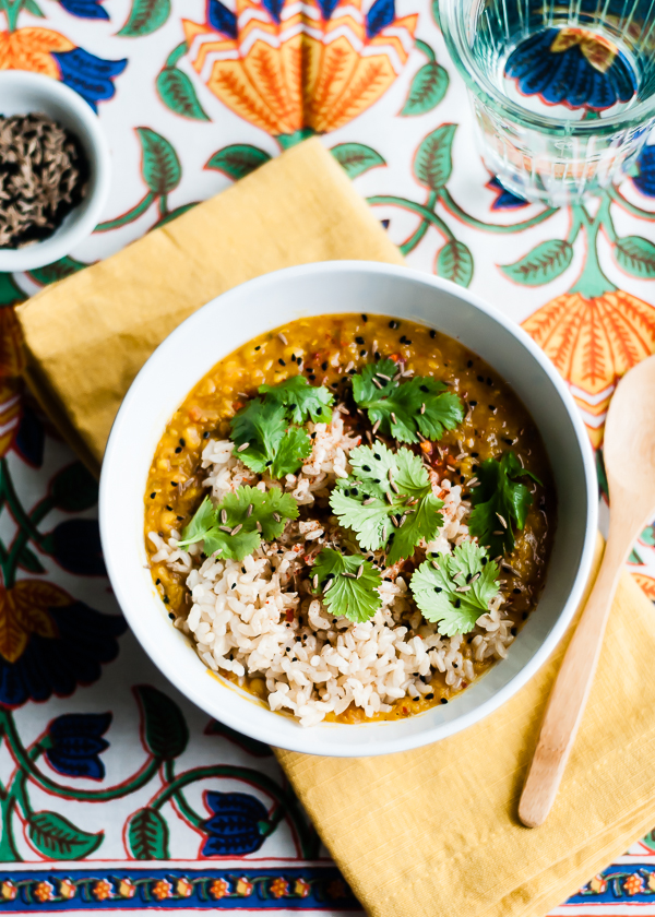 daal with brown rice