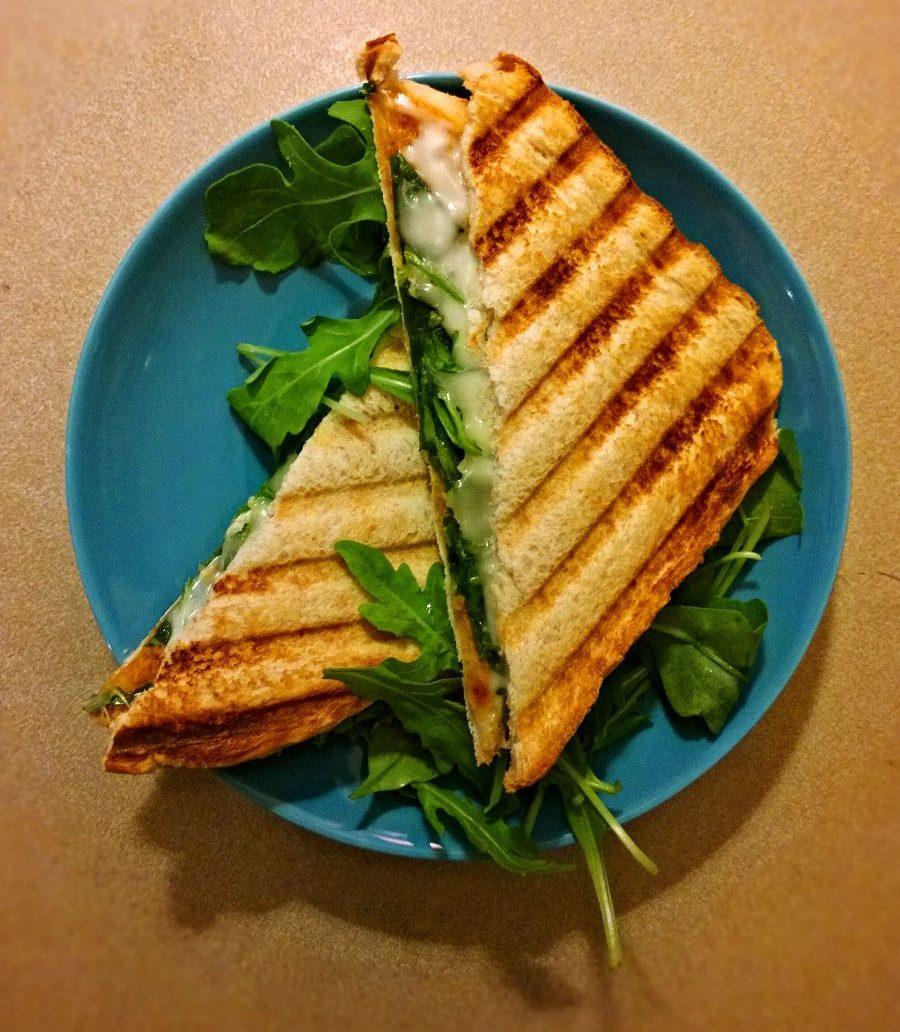 Toastie mit veganem Käse