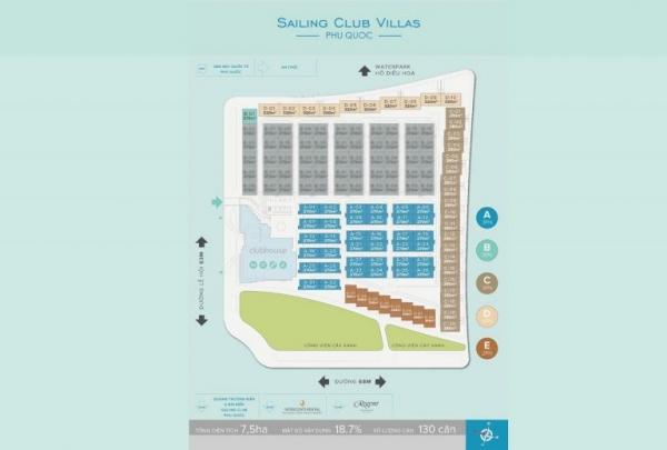 Mặt bằng tổng thể dự án biệt thự Sailing Club Resort Phu Quoc