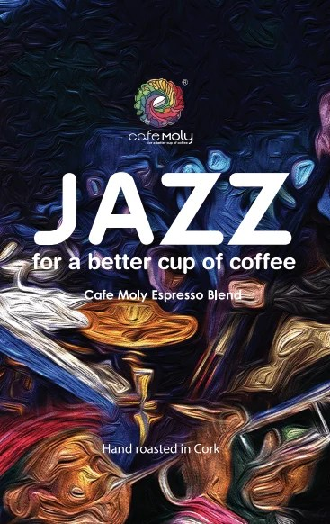 Jazz Colombia/Ethiopa Blend Cafe Moly Label