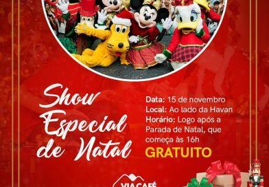 Atrações para toda a família marcam a chegada do Papai Noel ao Via Café Garden Shopping
