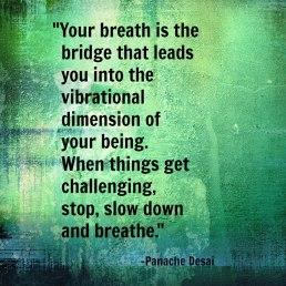 Panache on breathing as the bridge