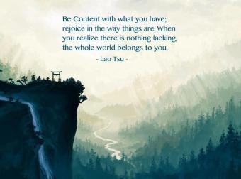 The World Belongs to You -Lao Tsu