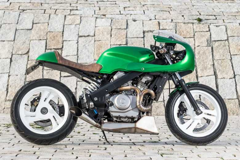 "NTV 650 Café racer ""THE GREEN GOBLIN"" - WIMOTO"