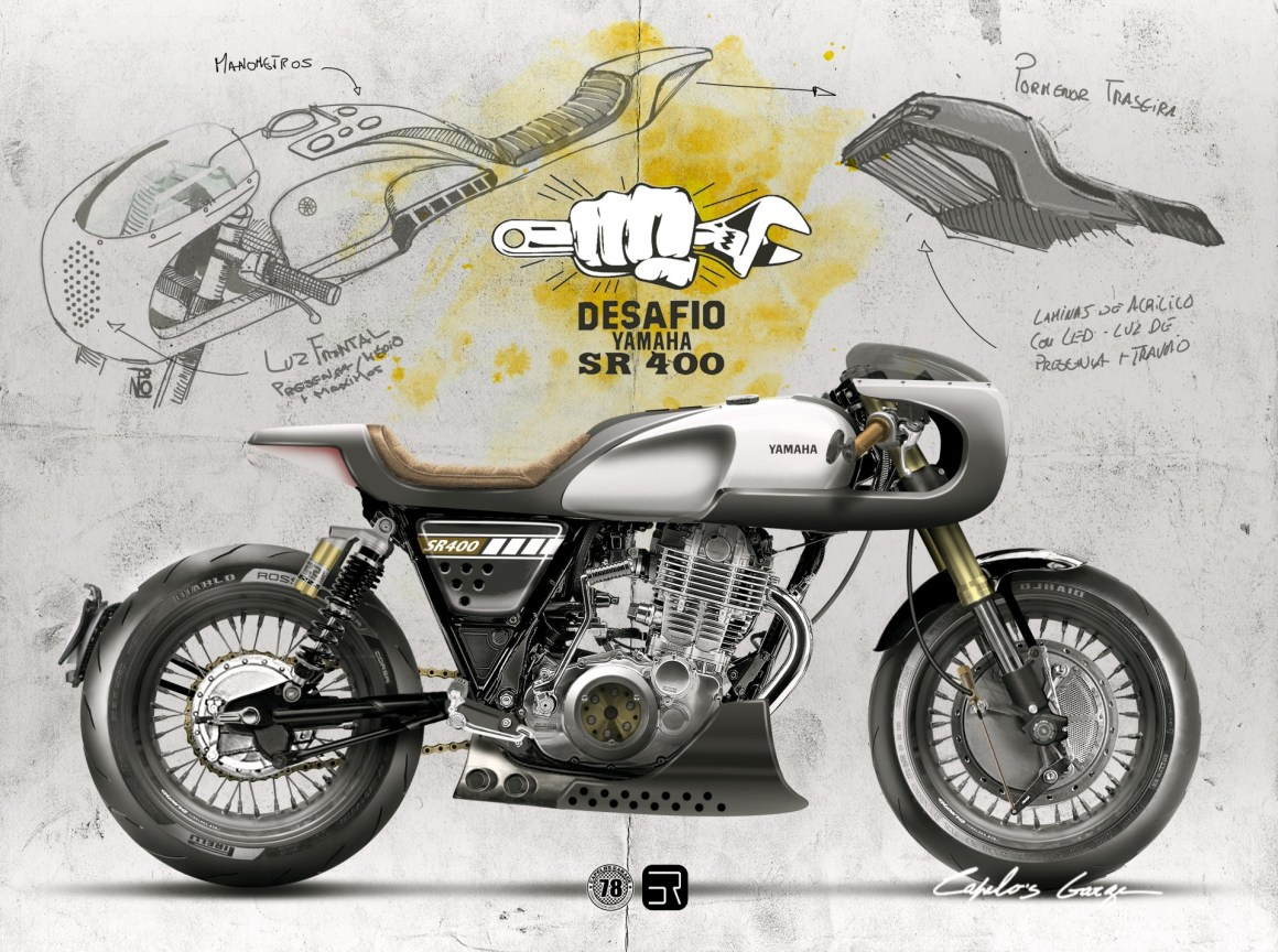 Yamaha SR 400 from Capêlo's Garage