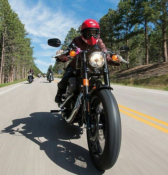 By @leticiacline - Every time I'm on the new @harleydavidson Roadster I feel like I'm in a race! It's the perfect bike for people who love cruisers but want to ride like they're on a Sportsbike and lay it down in corners. - Pic from this years Sturgis Rally on one of the 20 rides I got to be on. Shot by @michaellichterphotography