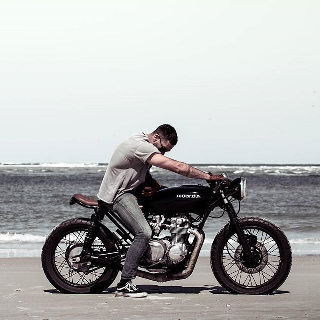 @bjgolnick on his Honda CB 550
