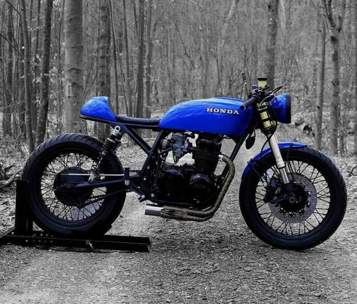 1978 CB550 MD01 Black and Blue 🛠️ by @motodesign2017