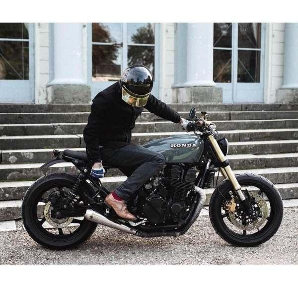 @fliflac on his Honda CB 750 📷 @klaranorthphotography