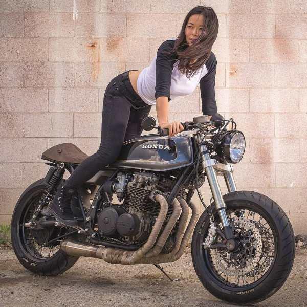 @superliza on Honda CB650 ️by @oldskooltuner : @benquinnphotography