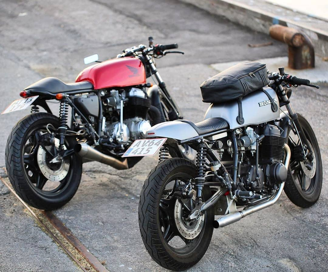 Right or left? Honda CB750 by  @christensen_moto