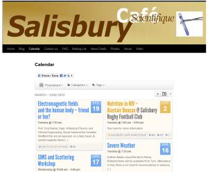 Calendar screen grab