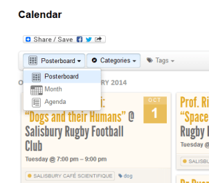 Types of Calendar Views available