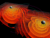 Numerical simulations of the gravitational waves emitted by the inspiral and merger of two black holes