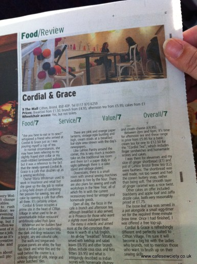 Bristol Post - our first review, Nov 2011